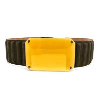 Fendi Dark Green Jewel Waist Belt