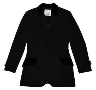 Moschino Cheap And Chic  black three button wool blazer