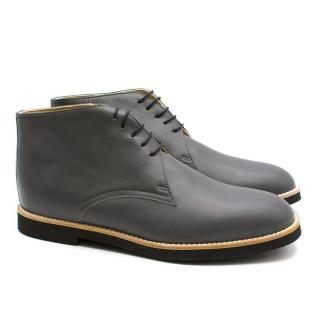 T&F Slack Shoemakers London Chuck 361 Handmade Premier Graphite Boots