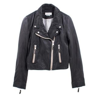 Isabel Marant Etoile 'Aken' Black Leather Biker Jacket