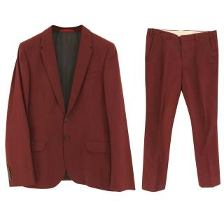 PS Paul Smith Burgundy Suit