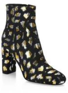 Saint Laurent leopard boots