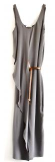 Celine charcoal silk maxi dress