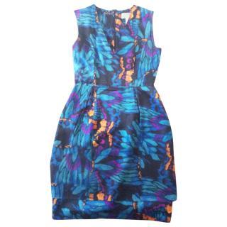 Erdem blue silk  dress