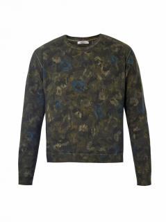 Valentino floral camouflage print sweatshirt