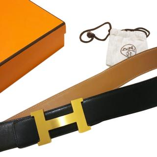 Hermes Constance 2 Black And Tan Strap 42mm Belt Kit RRP �1005 Size 90