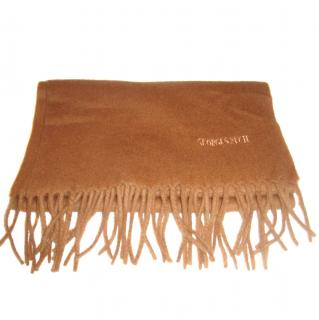 Georges Rech brown Cashmere & wool scarf