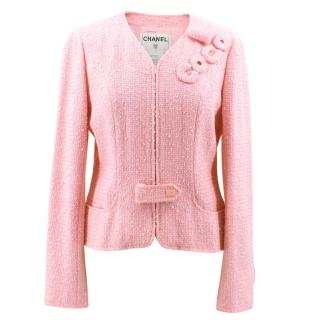 Chanel Pink Cotton Blend Coco Tweed Jacket