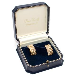 Cartier 18ct Gold and White Diamond Earrings