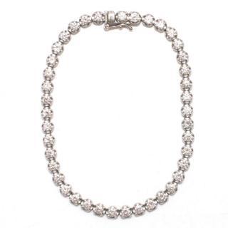 Bespoke 3k Diamonds in 18K White Gold Bracelet
