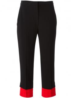 Alexander McQueen Red Double Cuff Cigar Trousers
