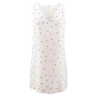 'Victoria' Victoria Beckham Eyelet Embellished Mini Dress