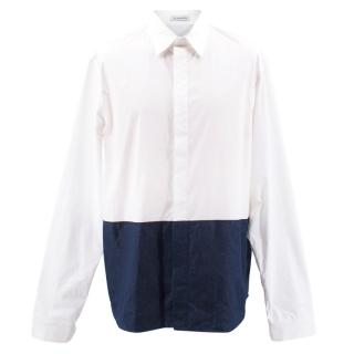 J.W. Anderson White and Navy Shirt