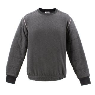 ID(Hynam) Christopher Shannon Grey Zipper Detail Sweatshirt