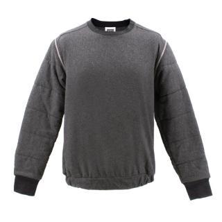 Christopher Shannon Grey Zipper Detail Sweatshirt