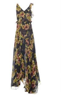 Isabel Marant floral silk maxi dress