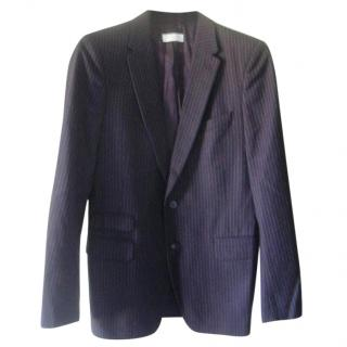 Dries Van Noten Blue Pinstriped Jacket Blazer