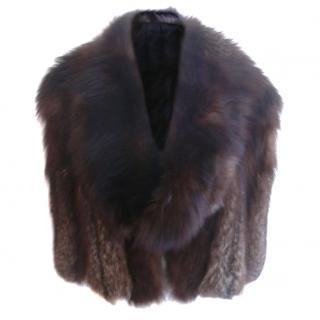 Revillion Paris 2 Style Fox Fur Cape