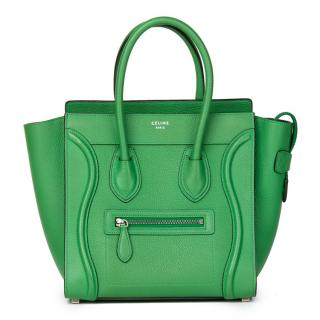 Celine Grained Calfskin Leather Micro Luggage Tote