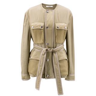 Givenchy Silk Crepe de Chine, Satin and Chiffon Jacket