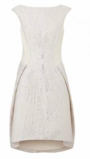 Amanda Wakeley Short Silver/Ecru Dress