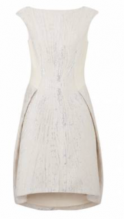 Amanda Wakeley Short Silver/Ecru Dress