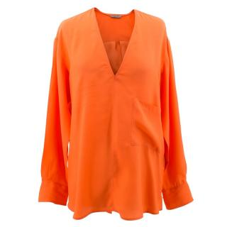 Bottega Veneta Orange Silk Top