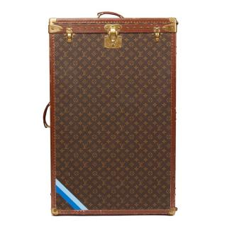 Louis Vuitton Brown Monogram Vintage Custom Wardrobe Trunk