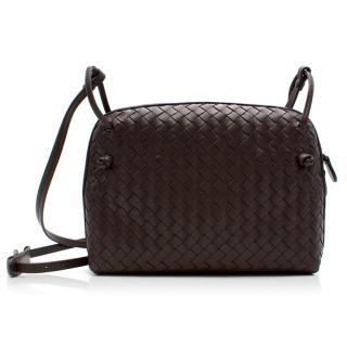 Bottega Veneta Espresso Nodini intrecciato leather crossbody bag