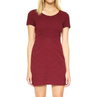 THE KOOPLES Burgundy Brocade Shift Dress