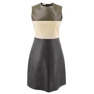 Celine Leather mid-length dress