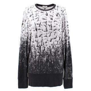Helmut Lang 'Scarp' Jersey Crewneck Sweatshirt