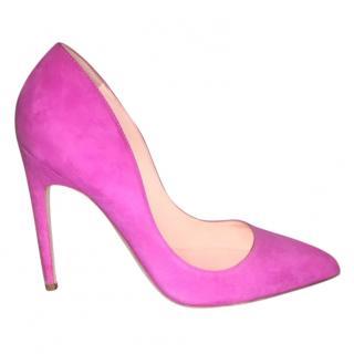 Rupert Sanderson pink suede pups