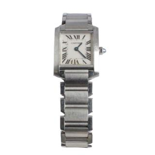 Cartier Tank Francaise mini stainless steel watch