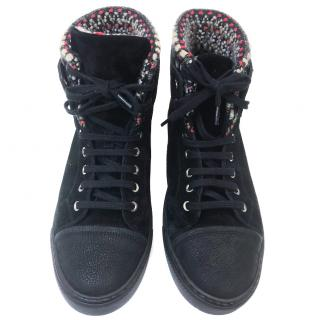 Chanel Suede/Tweed High Tops