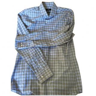 BOSS blue checked cotton Shirt