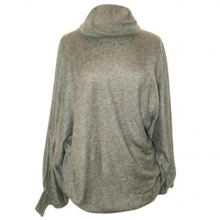 VANESSA BRUNO charcoal cobweb very long jumper size 1