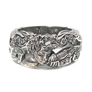 MARGERIT JOYAS White Gold fantasy ring with diamonds