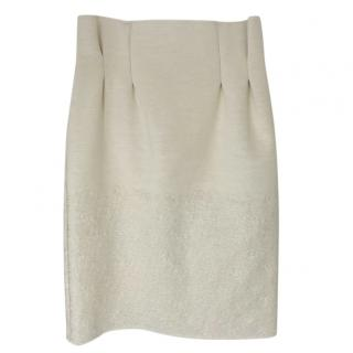 Kenzo Cotton Blend High Waist Skirt