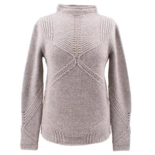 Helmut Lang Grey Camel Hair Jumper