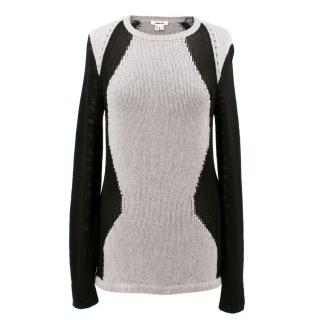 Helmut Lang Grey and Black Jumper