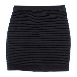 Balmain Black Textured Skirt