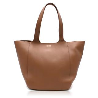Giorgio Armani Brown Leather Tote Bag