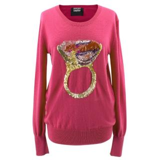 Markus Lupfer Pink Ring Sequin Jumper