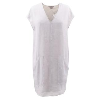 Helmut Lang Grey Slouchy Pocket Dress