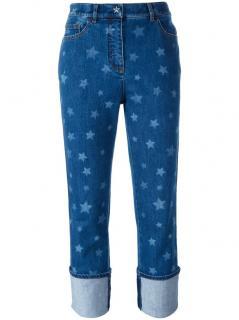 Valentino Star Print High Waisted Boyfriend Jeans