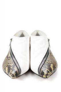 Celine Low Boot white Nappa Lambskin and Python
