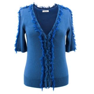 Nina Ricci Blue Short Sleeve Top