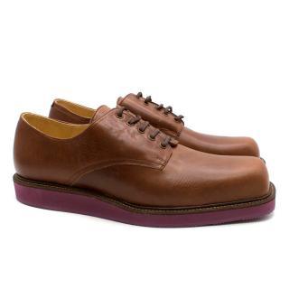 T & F Slack Handmade Shoemakers Brown Handmade  Square Toe Brogues