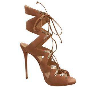 GIUSEPPE ZANOTTI Lace up suede heels